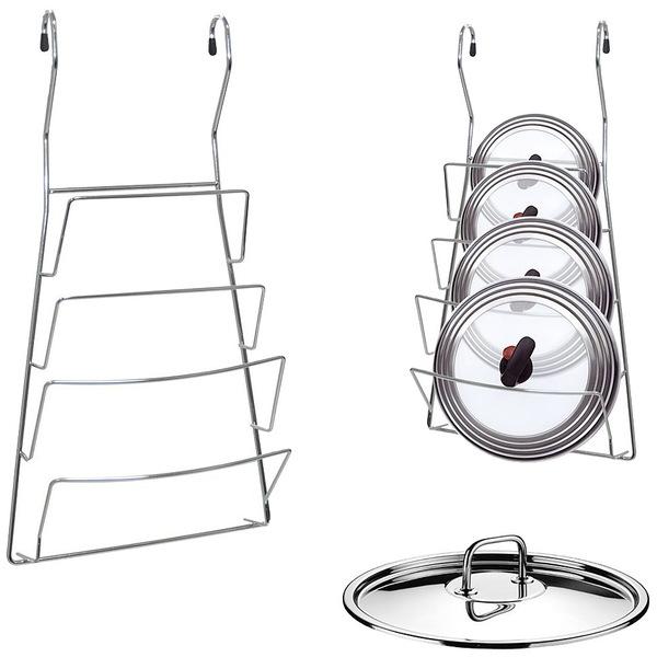 Подставка для крышек навесная на рейлинг 20*37 см купить оптом и в розницу