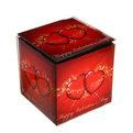 Шкатулка из стекла ″Сердца″ 2 штуки 9*9*9, 11*11*11см 8056 купить оптом и в розницу