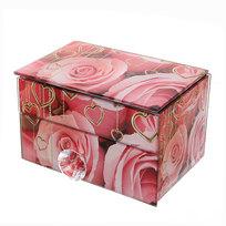Шкатулка из стекла ″Бабочка с розами″ 1 штука 12*7,5*7,1 см 8008-8 купить оптом и в розницу