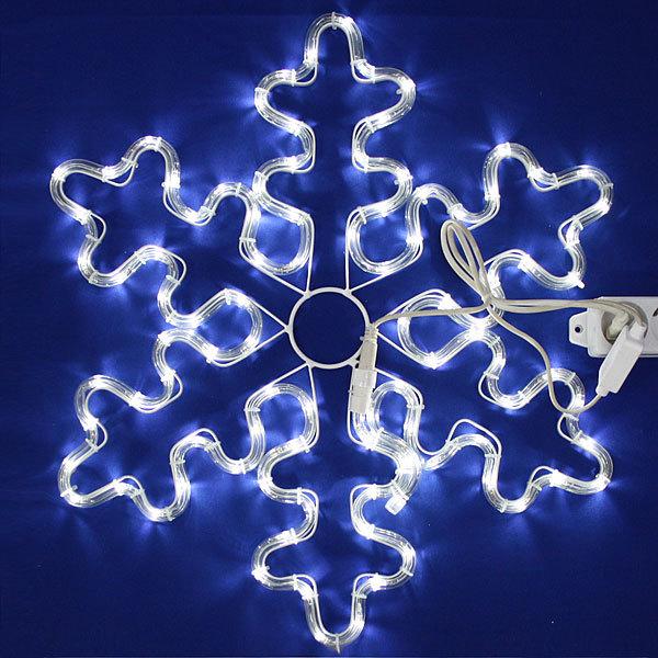 Световое панно, дюралайт, 57см,″Снежинка″,белая купить оптом и в розницу