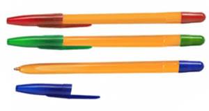 Ручка шар.СТАММ учен.(желт)1/250 син 1мм купить оптом и в розницу
