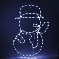 Световое панно, дюралайт, 63х45см ″Снеговик″ белый купить оптом и в розницу