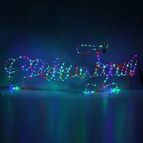 Световое панно, дюралайт, 1,6м х 0,6м,″С Новым Годом″,RGB(красный,зеленый ,синий) купить оптом и в розницу