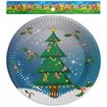 Тарелка бумажная 18 см в наборе 10 шт ″Новый год″ 1 купить оптом и в розницу