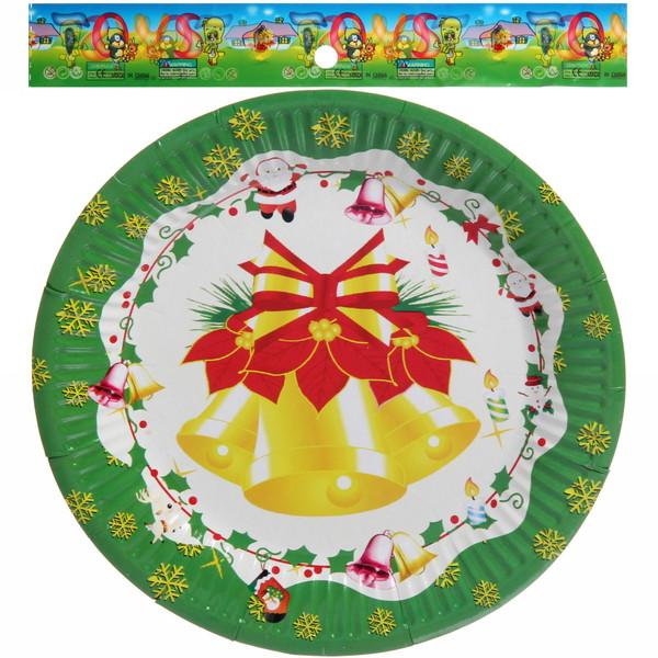 Тарелка бумажная 18 см в наборе 10 шт ″Новый год″ 2 купить оптом и в розницу