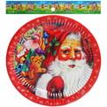 Тарелка бумажная 18 см в наборе 10 шт ″Новый год″ 3 купить оптом и в розницу
