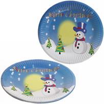 Тарелка бумажная 18 см в наборе 10 шт ″Новый год″ 4 купить оптом и в розницу