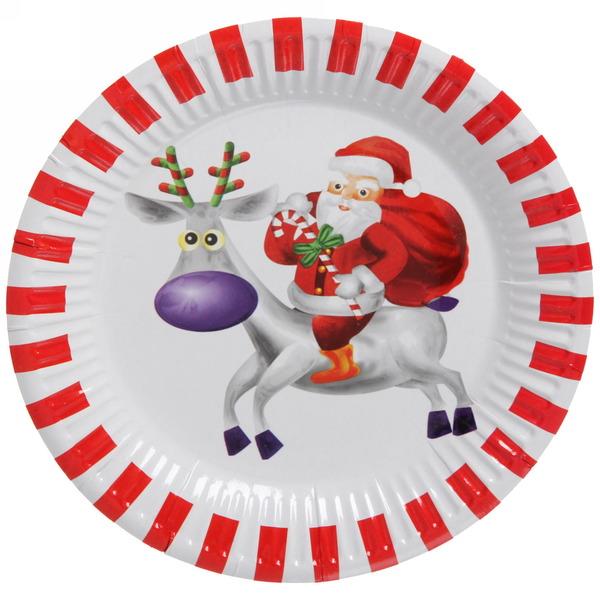 Тарелка бумажная 18 см в наборе 10 шт ″Новый год″ 5 купить оптом и в розницу