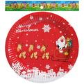 Тарелка бумажная 18 см в наборе 10 шт ″Новый год″ 6 купить оптом и в розницу