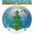 Тарелка бумажная 23 см в наборе 10 шт ″Новый год″ 1 купить оптом и в розницу