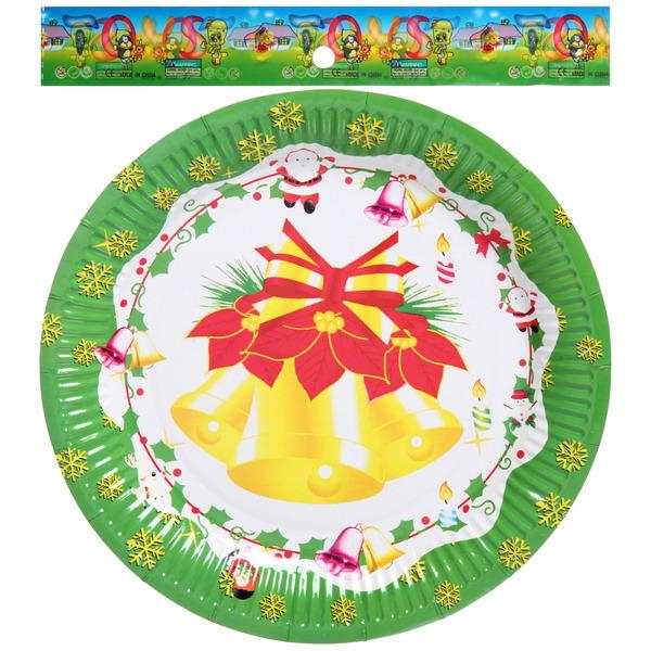 Тарелка бумажная 23 см в наборе 10 шт ″Новый год″ 2 купить оптом и в розницу
