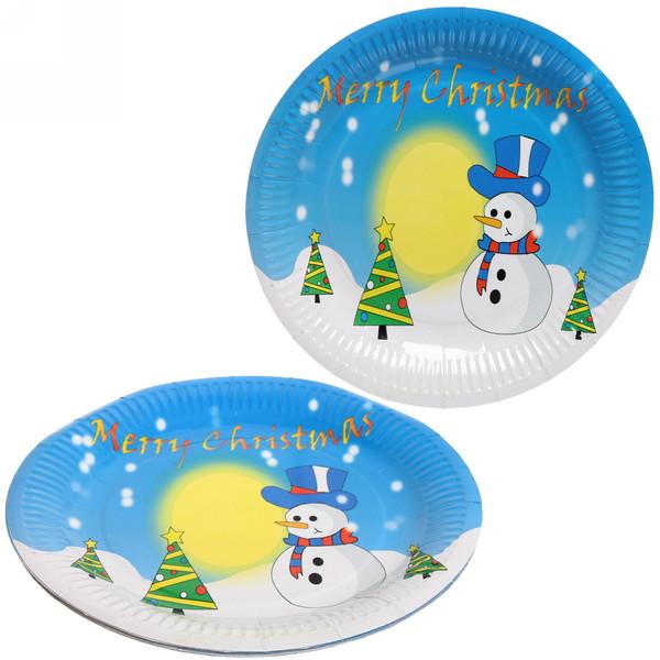 Тарелка бумажная 23 см в наборе 10 шт ″Новый год″ 4 купить оптом и в розницу