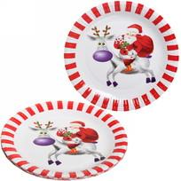 Тарелка бумажная 23 см в наборе 10 шт ″Новый год″ 5 купить оптом и в розницу