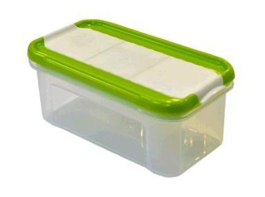 Банка для сыпучих продуктов с дозатором Krupa 0,5 л оливковый*21 купить оптом и в розницу