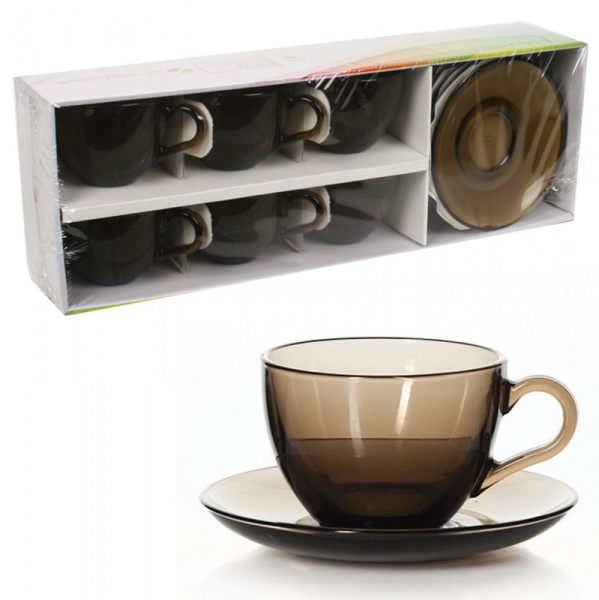 Набор чайный БЕЙЗИК БРОНЗ 12 пр. 215 мл. закал. (1/4) купить оптом и в розницу