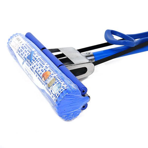 Швабра Селфи с губкой ПВА металлическая ручка 120 см.(отжим один ролик) купить оптом и в розницу