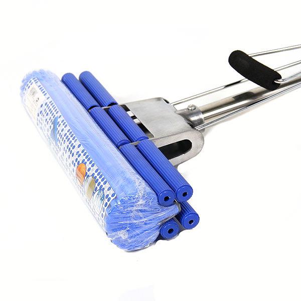 Швабра Селфи с губкой ПВА металлическая ручка 110 см.(отжим двойной ролик) нержавеющая телескопическая ручка купить оптом и в розницу