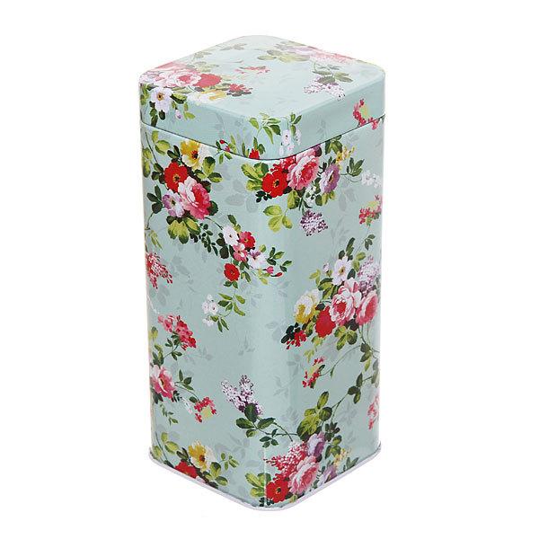 Банка для продуктов металлическая 700 мл, ″Зеленая роза″ 7х7х15см купить оптом и в розницу