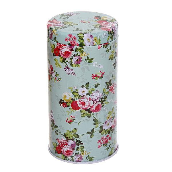 Банка для продуктов металлическая 500 мл, ″Зеленая роза″ 6.5х12.5 см 03077-5 купить оптом и в розницу