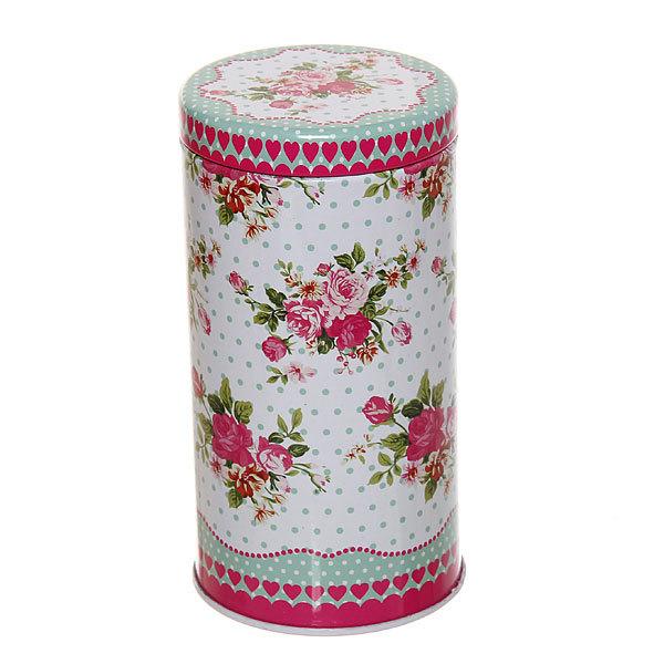 Банка для продуктов металлическая 500 мл, ″Белая роза″ 6.5х12.5 см купить оптом и в розницу
