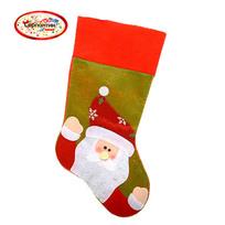 Носок новогодний 38х20 см ″Дед Мороз″ из фетра купить оптом и в розницу