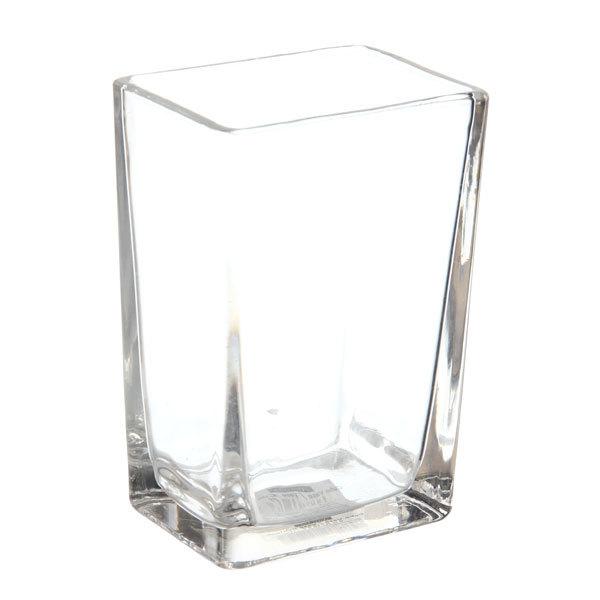 Ваза стеклянная флористическая 10*15*7,5см 661-11 купить оптом и в розницу