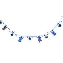 Бусы на ёлку синие 1,5м ″Ангелочки, шарики и звездочки″ купить оптом и в розницу