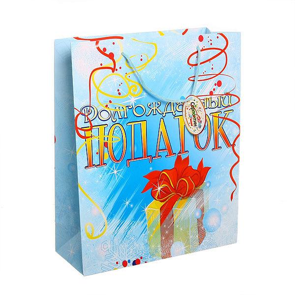 Пакет подарочный 32х26х10 см ″Долгожданный подарок″ купить оптом и в розницу