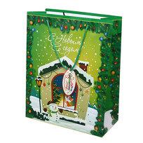 Пакет подарочный 26х21х10 см ″Домик С Новым Годом″ купить оптом и в розницу