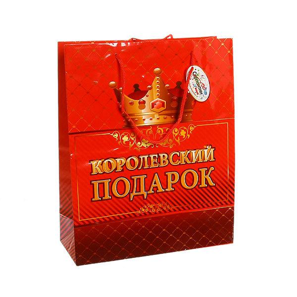 Пакет подарочный 32х26х10 см ″Королевский подарок″ купить оптом и в розницу