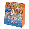 Пакет подарочный 21х18х8,5 см ″Дед Мороз у самовара″ купить оптом и в розницу