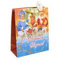 Пакет подарочный 26х21х10 см ″Дед Мороз у самовара″ купить оптом и в розницу