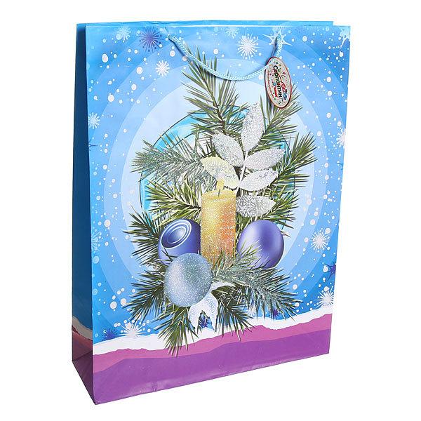 Пакет подарочный 43х31 см ″Новогодняя елочка″ купить оптом и в розницу