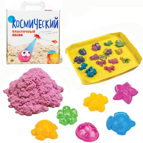 Набор ДТ Космический песок Розовый 2 кг. песочница и формочки кор. купить оптом и в розницу