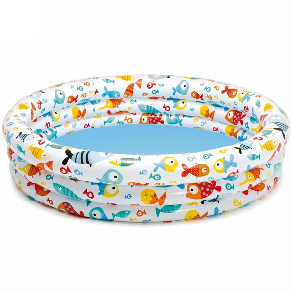Бассейн надувной круглый 132*28 см Fishbowl Intex (59431) купить оптом и в розницу