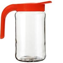 """Кувшин стеклянный """"Бочонок"""" (мандарин)  1,5 л  *4 купить оптом и в розницу"""