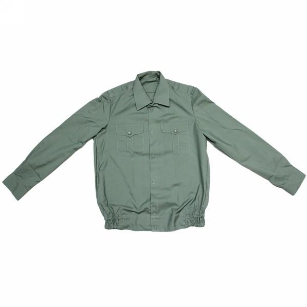 Рубашка форменная с длинным рукавом,цвет оливковый,р.52/176 купить оптом и в розницу