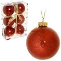 Новогодние шары ″Рубин″ 6см (набор 6шт.) купить оптом и в розницу