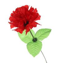 Цветок искусственный 30см декоративный Гвоздика красная купить оптом и в розницу