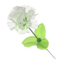 Цветок искусственный 30см декоративный Гвоздика белая купить оптом и в розницу