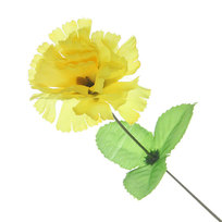 Цветок искусственный 30см декоративный Гвоздика желтая купить оптом и в розницу