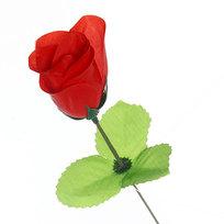 Цветок искусственный 32см декоративный Роза красная купить оптом и в розницу