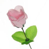 Цветок искусственный 32см декоративный Роза розовая купить оптом и в розницу
