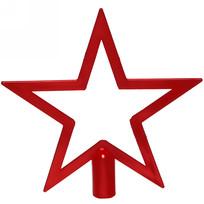 Звезда на ёлку 19см золото ″Звездный кант″ красный купить оптом и в розницу