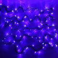 Гирлянда светодиодная уличная 25 м, 400 ламп LED, Синий, 8 реж, черн.пров. купить оптом и в розницу