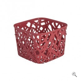 Корзинка квадратная NEO COLORS розовый/*6 шт (19,2х19,2х14,4)см Curver купить оптом и в розницу