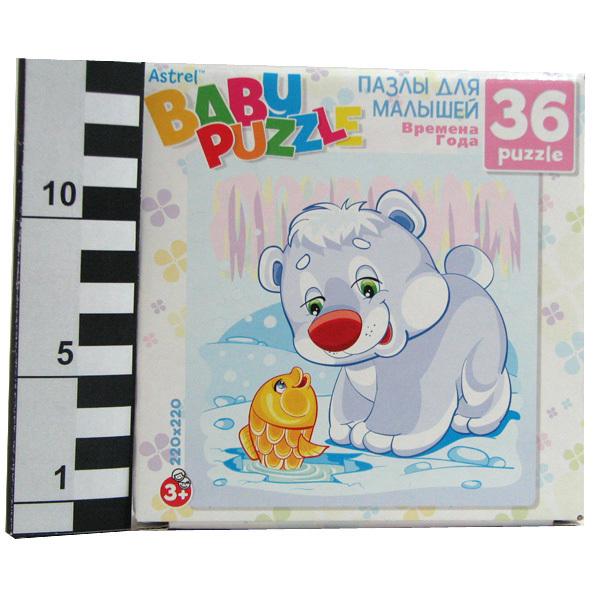 Пазл 36 Белый мишка зима 6267 Астрайт /10/ купить оптом и в розницу