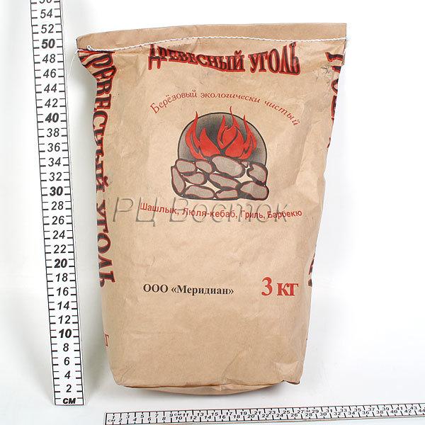 Уголь березовый 3 кг (К) купить оптом и в розницу
