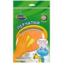 Перчатки хозяйственные латексные M (ЭКОНОМ) CELESTA купить оптом и в розницу