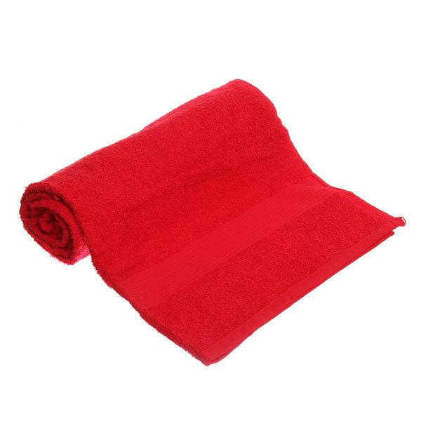 Махровое полотенце 70*140см красное ЭК140 Д01 купить оптом и в розницу